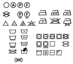 symboles de lavage